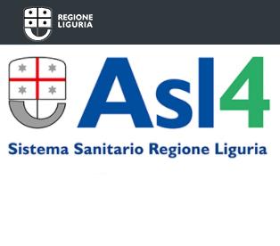 Il logo della Asl4 del Sistema Sanitario Regione Liguria