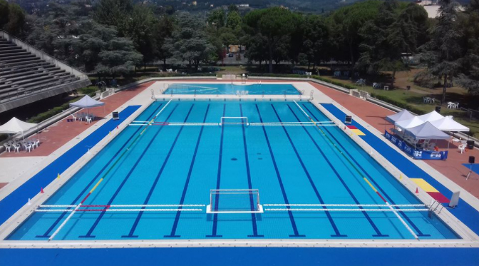 La piscina olimpica del complesso Paolo Costoli